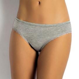6 Slip donna SieLei in cotone elasticizzato con profili in pizzo ed elastico tubolare in vita
