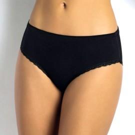 6 Slip donna SieLei Midi in cotone con profili in pizzo ed elastico tubolare in vita