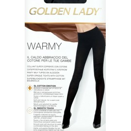 Collant donna Golden Lady Warmy super coprente con cotone e lycra
