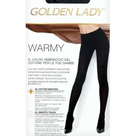 Collant donna Golden Lady Warmy super coprente con cotone e lycra