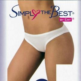 6 Slip donna Emy a vita bassa in cotone elasticizzato con elastici tubolari