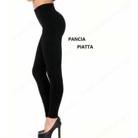 Leggings donna Gladys cotone elasticizzato con fascione pancia piatta