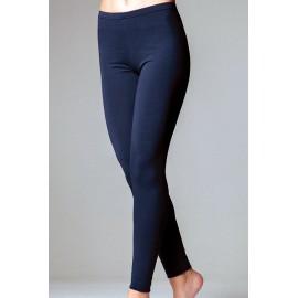 Leggings donna Jadea lungo in leggero cotone elasticizzato liscio estivo