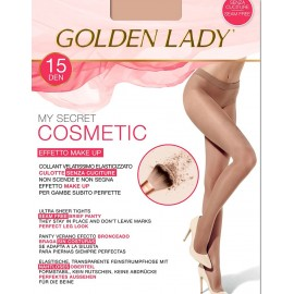 5 Paia Collant donna Golden Lady velatissime con culotte e gambe effetto Make Up