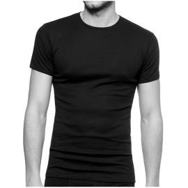 T-shirt uomo Ever manica corta con scollo basso in jersey di cotone aderente