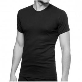 T-shirt uomo Ever manica corta con scollo a V in jersey di cotone aderente