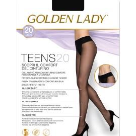 3 Collant donna Golden Lady Teens 20 in liycra a vita bassa con cinturino regolabile