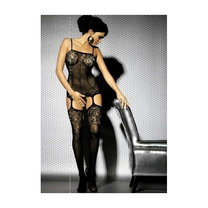 Sexy lingerie donna Obsessive, Bodystocking effetto guepiere