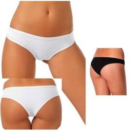 3 brasiliana donna Jadea a vita bassa in cotone modal elasticizzato con elastici tubolari