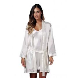 Kimono donna Andra Lingerie corto in raso setificato