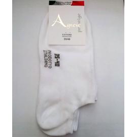12 paia di calze uomo Agnese pedulino basso in cotone elasticizzato