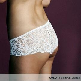 Culotte donna Lormar Brasiliana tutto pizzo con cuciture piatte comfort
