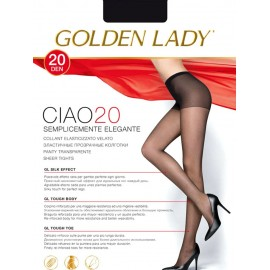 10 Collant donna Golden Lady Ciao 20 in lycra velata con corpino
