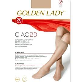 2 paia gambaletti donna Golden Lady Ciao 20 con bordo comfort