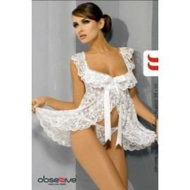 SexyLingerie donna Obsessive, Julia Babydoll trasparente in pizzo