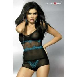 Sexy lingerie donna Obsessive,Lazuro eleganza e sensualità
