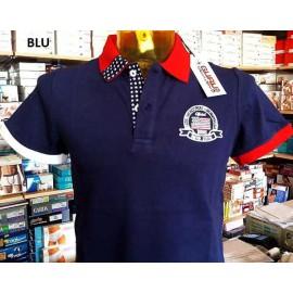 Polo uomo Guru con logo frontale versione Stati Uniti D'America