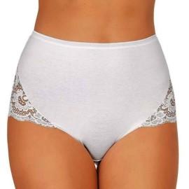6 Slip culotte donna Jadea in cotone elasticizzato con pizzo nelle sgambature