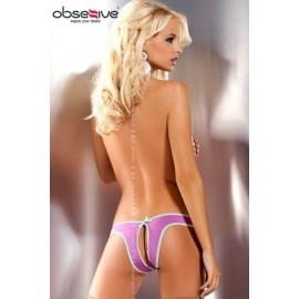 Sexy lingerie donna Obsessive, Lilac perizoma trasparente e pizzo