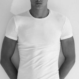 3 T-shirt uomo Enrico Coveri girocollo in caldo cotone elasticizzato