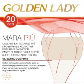 14 Collant donna Golden Lady Mara 20 XXL calibrate Extra Large in filanca