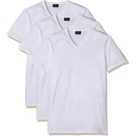 3 T-shirt uomo Navigare manica corta con scollo a V in cotone in taglie Extra Large