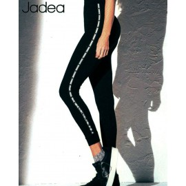 Leggings donna Jadea in viscosa con banda laterale e stelline applicate