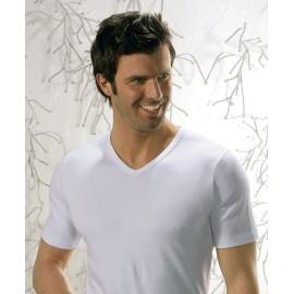 3 T-shirt uomo Club88 manica corta con scollo a V in caldo cotone felpato