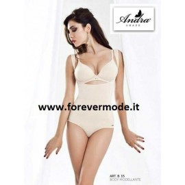 Body donna Andra modellante ad effetto push up senza seno in microfibra