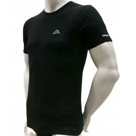 3 T-Shirt uomo Kappa manica corta a girocollo in cotone elasticizzato con logo stampato