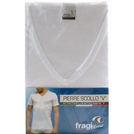 T-Shirt uomo Fragi a manica corta in cotone mercerizzato con scollo a V