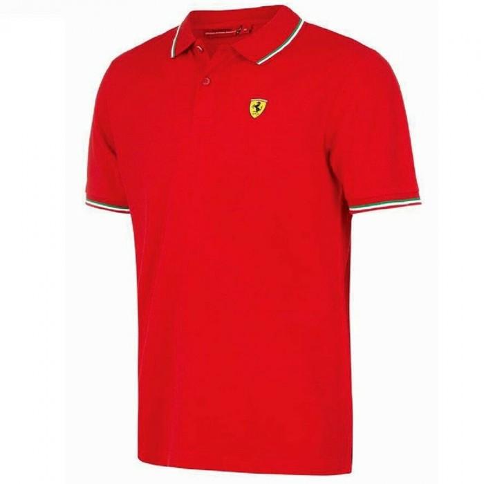 Scuderia Ferrari Polo manica corta uomo ufficiale del Team Tricolore
