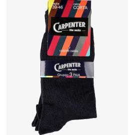 3 Paia di Calze da uomo Carpenter corte in caldo cotone invernale