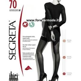 1 Paio Autoreggente donna Ibici Segreta 70 maglia a rete con balza in pizzo