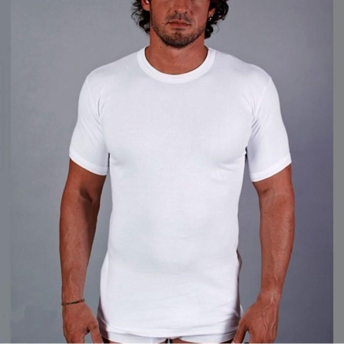 3 T-shirt uomo FDB manica corta girocollo in caldo termo cotone doppio