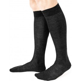 6 Paia di Calzettoni uomo Ciocca lunghe in lana superwash a costina 1/1