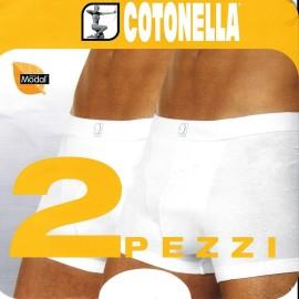 2 Boxer uomo Cotonella in cotone Modal vita bassa con elastico esterno