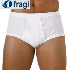 3 Slip uomo Fragi in cotone a costina con elastico interno ed apertura frontale