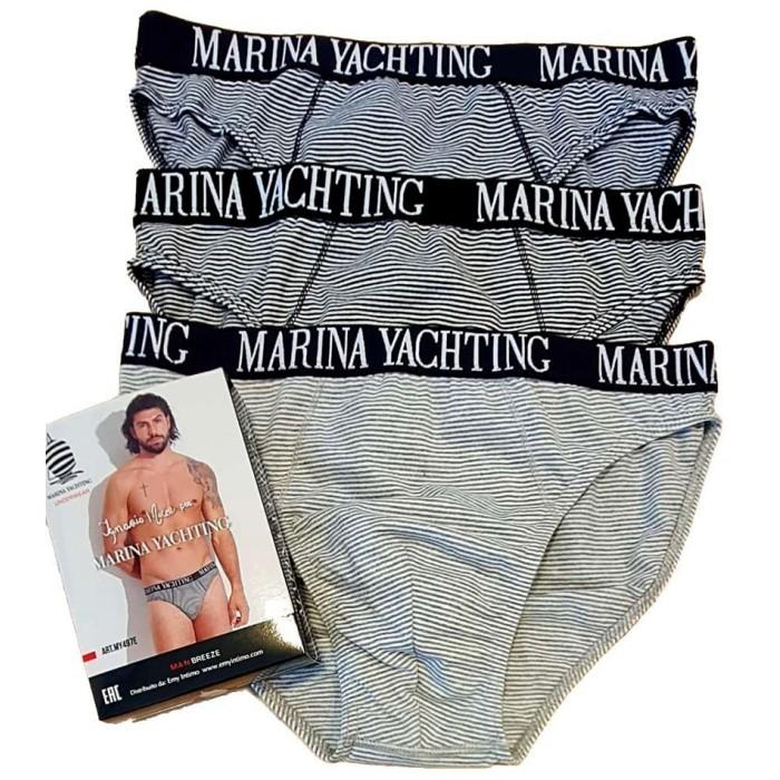 6 Slip uomo Marina Yachting in cotone elasticizzato con elastico esterno loggato