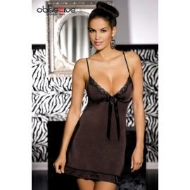 Sexy lingerie donna Obsessive,Tango Chemise scollatura seducente