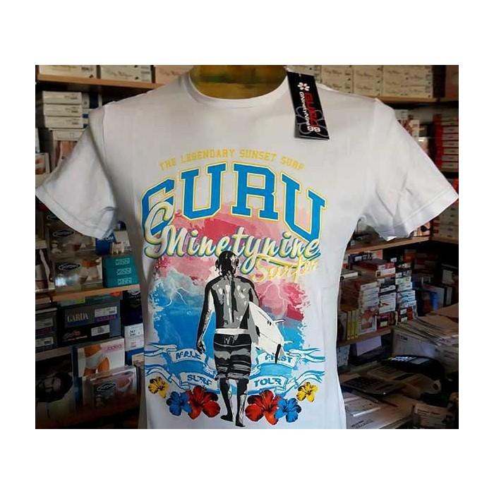 T-shirt uomo Guru manica corta a girocollo con stampa logo frontale