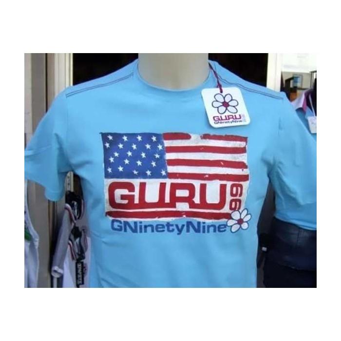 E A Shirt T Con Girocollo Guru Stampa Uomo Bandiera Corta Manica Usa qpUzVMSG