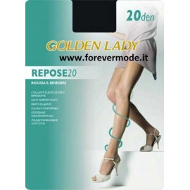 5 Collant donna Golden Lady Repose 20 elasticizzato velato