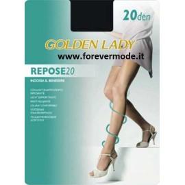 5 Collant donna Golden Lady Repose 20 elasticizzato velato
