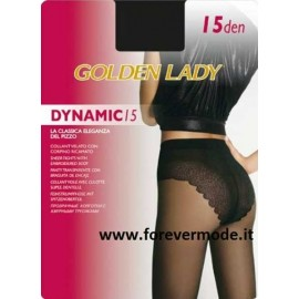 Collant donna Golden Lady Dinamic15 velatissimo con corpino sgambato