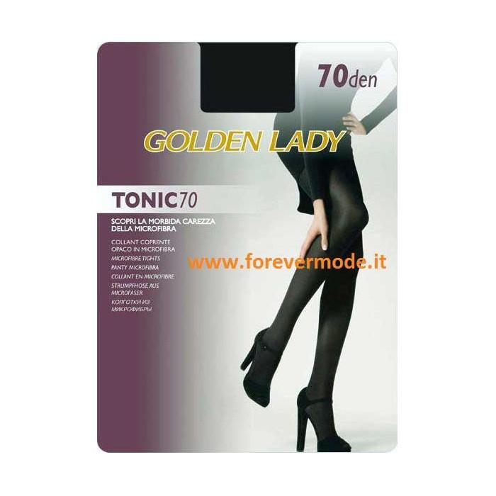 2 Collant donna Golden Lady Tonic 70 coprente in microfibra