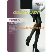 2 Collant donna Golden Lady Tonic 70 coprente in microfibra