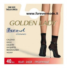 Calzino donna Golden Lady Trend 40 denari in lycra