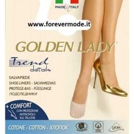Salvapiede donna Golden Lady Trend 100% cotone senza cuciture