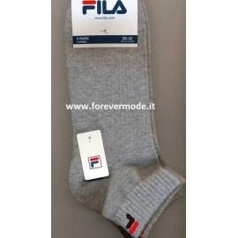 3 Paia di Calze unisex Fila in cotone con logo ed elastico costina